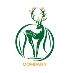 slim deer logo vector image