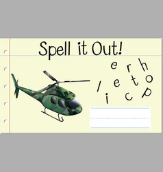 Spell it out helicopter vector