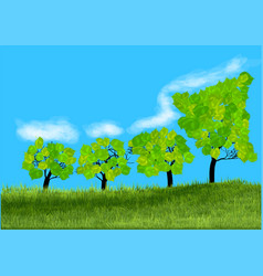 symbol of growth trees vector image