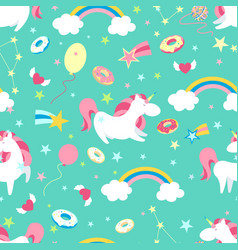 unicorn character set cute magic collection with vector image