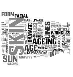 Why does the skin age text word cloud concept vector