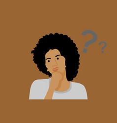 Woman in ask vector