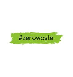 zero waste logo icon reduce reuse eco vector image