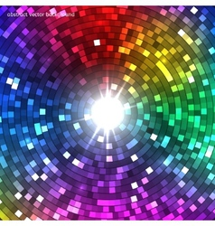 Abstract Colorful Disco Lights Tunnel vector image