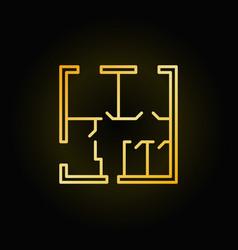 apartment floor plan icon vector image