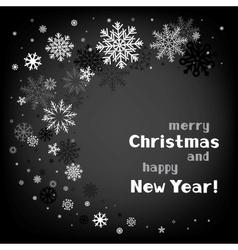 christmas black swirl background vector image