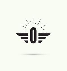 Elegant dynamic alphabet vector