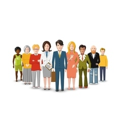 International group of people flat vector image vector image