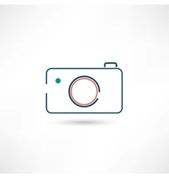 little digital camera icon vector image vector image