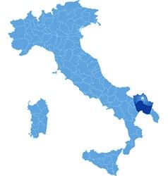 Map of Italy Taranto vector image vector image