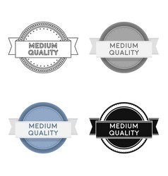 medium quality icon in cartoon style isolated on vector image