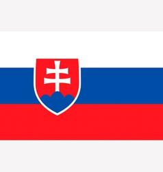 Slovakian flag vector image vector image