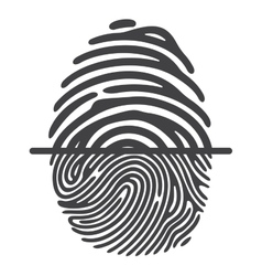 black fingerprint vector image vector image