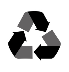 recycling symbol icon graphic vector image