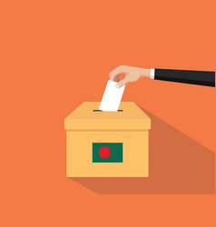 bangladesh vote election concept with vector image vector image
