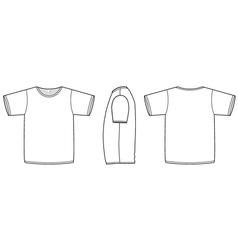 basic unisex tshirt template vector image vector image