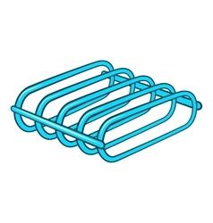 Bicycle rack icon cartoon style vector image