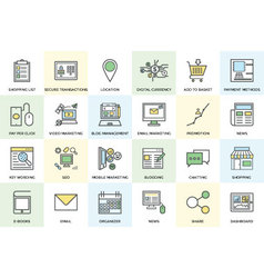 Digital Marketing Bold Icons 1 vector image vector image