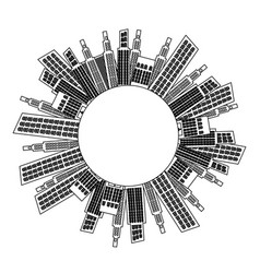 figure city builds icon vector image vector image