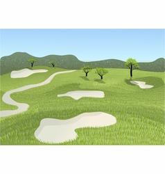 golf course vector image vector image