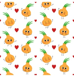 Onions seamless pattern vector image vector image