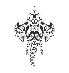 abstract monochrome elephant ganesh vector image vector image