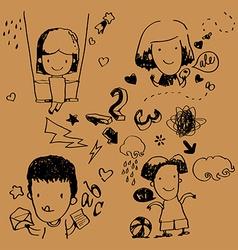 Figure children vector image