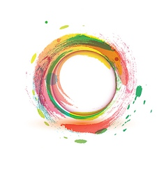 Abstarct background multicolor water circle vector