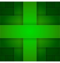 Abstract green rectangle cross shapes background vector