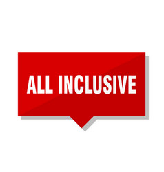 All inclusive red tag vector