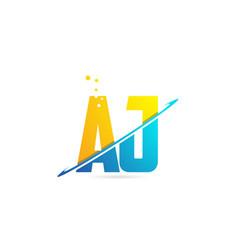 Alphabet letter aj a j combination for logo vector