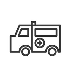 ambulance car simple outline icon hospital related vector image