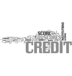 Average credit score us text word cloud concept vector