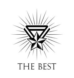 Award icon or logo on white vector