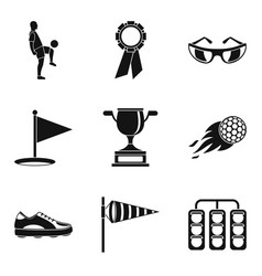 best prize icons set simple style vector image