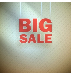 Big sale over blue green background vector image