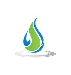 Bio waterdrop organic logo vector