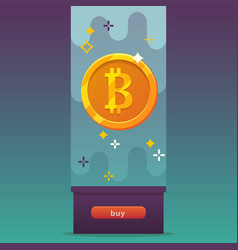 bitcoins icon vector image