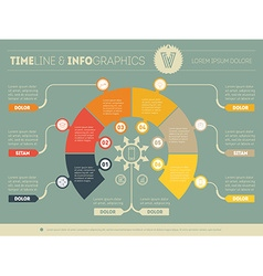 Business concept of infographic with six options vector image
