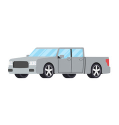 Cars front side view sedan auto icon detailed vector