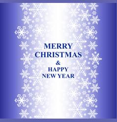 Christmas congratulatory card with snowfall decor vector