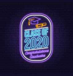 class 202 neon bright signboard light banner vector image