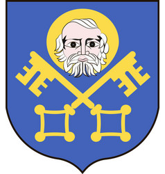 coat of arms of trzebnica in lower silesian vector image
