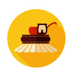 combine harvester flat icon vector image