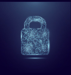 concept cyber security lock made of vector image