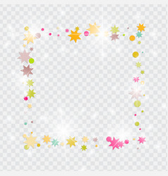 confetti on transparent background vector image