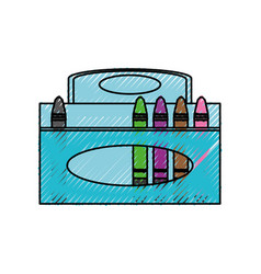 Crayons in box vector