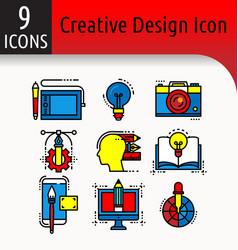 creative design color icon vector image