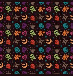 Cute hallowen pattern background vector