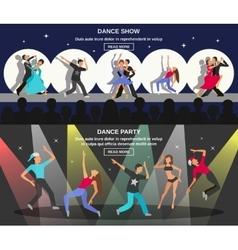 Dance Flat Banner vector image